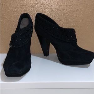 Kenneth Cole Reaction leather heeled ankle boots
